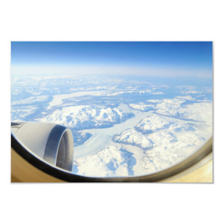 Ice Fields of South Greenland From Airplane Window Card