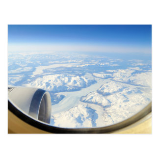 Ice Fields of South Greenland From Airplane Window Postcard