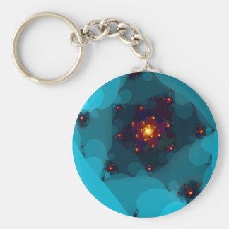 Ice Fire. Fractal Art. Blue. Key Chains