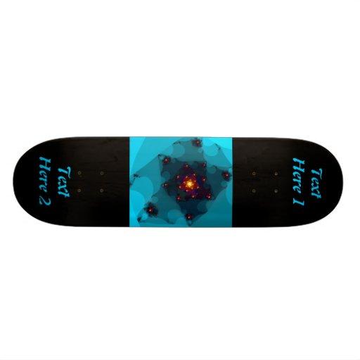 Ice Fire. Fractal Art. Blue. Skate Decks