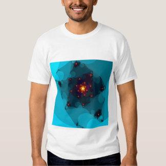 Ice Fire. Fractal Art. Blue. T Shirt