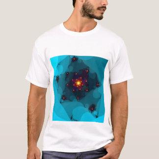 Ice Fire. Fractal Art. Blue. T-Shirt