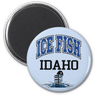 Ice Fish Idaho Magnet