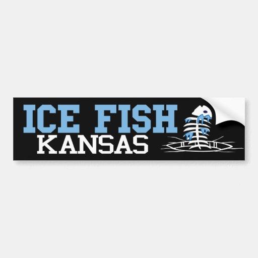 Ice Fish Kansas Bumper Stickers