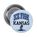 Ice Fish Kansas Button