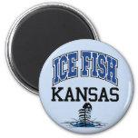Ice Fish Kansas Magnets