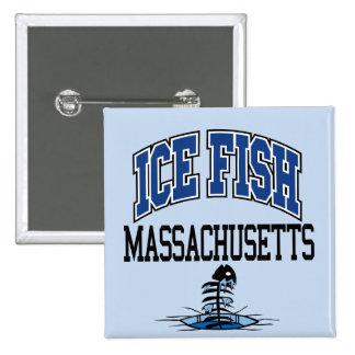Ice Fish Massachusetts Button