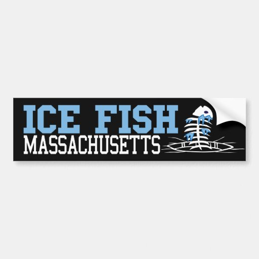 Ice Fish Massachusetts Car Bumper Sticker