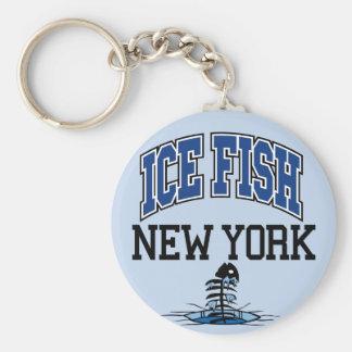 Ice Fish New York Basic Round Button Keychain