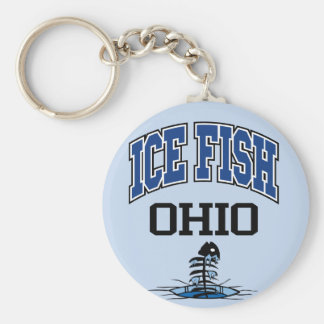 Ice Fish Ohio Basic Round Button Keychain