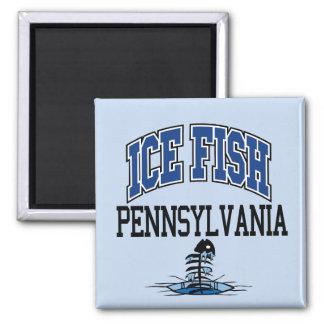Ice Fish Pennsylvania Magnet