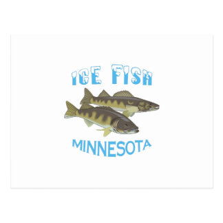 ICE FISH POSTCARD