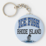 Ice Fish Rhode Island Keychain