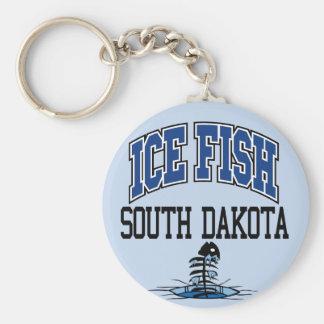 Ice Fish South Dakota Basic Round Button Keychain