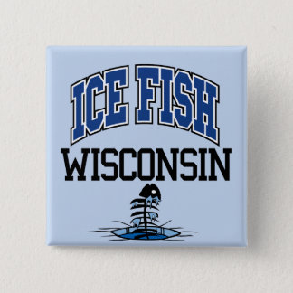 Ice Fish Wisconsin Button