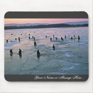 Ice Fishermen, Stoddard, WI Mouse Pad