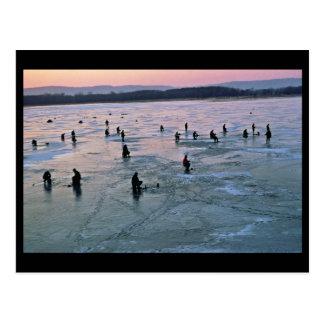 Ice Fishermen, Stoddard, WI Postcard