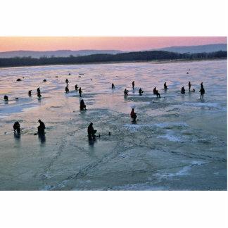 Ice Fishermen, Stoddard, WI Standing Photo Sculpture