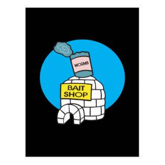 Ice Fishing Bait Shop Postcard