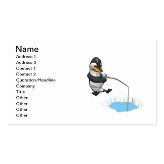 Ice Fishing Business Card Template