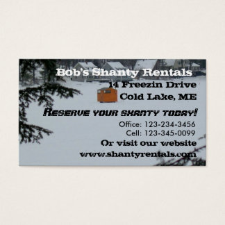 Ice Fishing Business Card