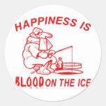 ICE FISHING CLASSIC ROUND STICKER
