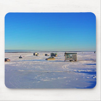 Ice Fishing collectin Mouse Pad