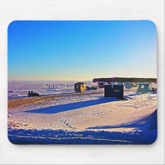 Ice Fishing collection Mouse Pad
