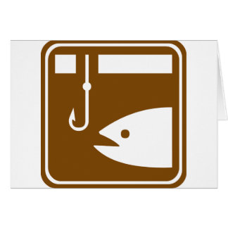 Ice Fishing Highway Sign Card