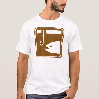 Ice Fishing Highway Sign T-Shirt