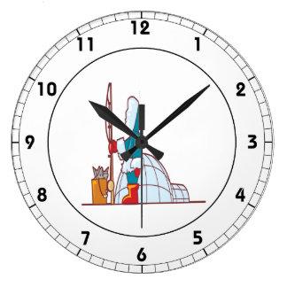 Ice Fishing Igloo Wall Clock