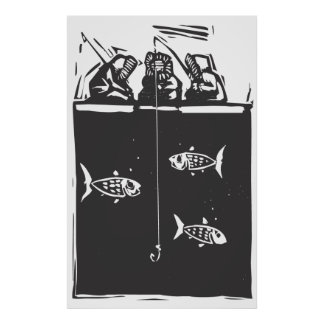 Ice Fishing Inuit Poster
