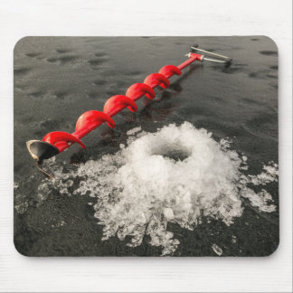 Ice fishing mouse pad