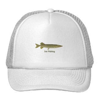 Ice Fishing Northern Pike Logo Trucker Hat