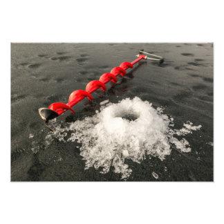 Ice fishing photo art