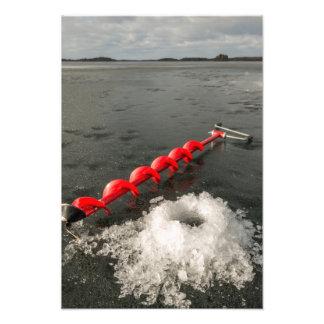 Ice fishing art photo
