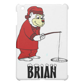 Ice Fishing Polar Bear in PJs iPad Mini Cover
