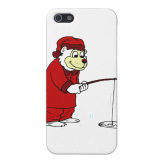 Ice Fishing Polar Bear in PJs iPhone SE/5/5s Case