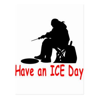 ICE FISHING POSTCARD