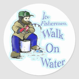 ice fishing sticker