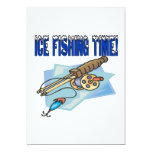 Ice Fishing Time 5x7 Paper Invitation Card