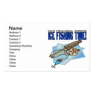 Ice Fishing Time Business Card