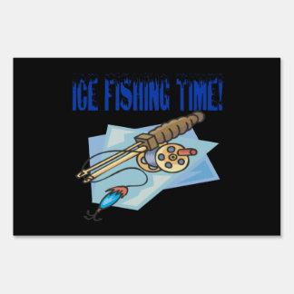 Ice Fishing Time Yard Signs