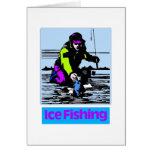Ice Fishing w fish Card