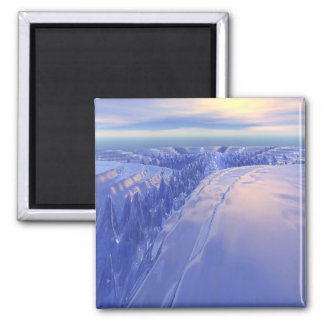 Ice Fissure 2 Inch Square Magnet
