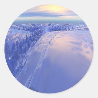 Ice Fissure Classic Round Sticker