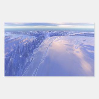 Ice Fissure Rectangular Sticker