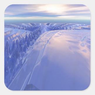 Ice Fissure Square Sticker