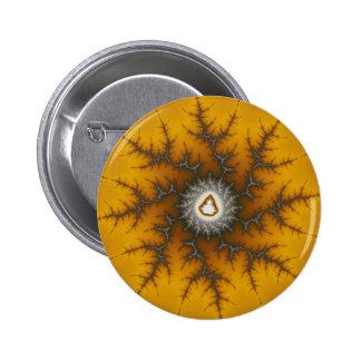 Ice Flake - Fractal Pinback Button