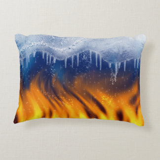 Ice & Flame Accent Pillow